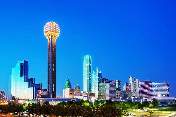 Reunion Tower in Texas